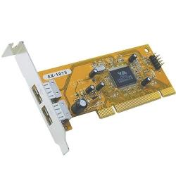 Exsys I/O-Karte LowProfile USB2.0 PCI Karte