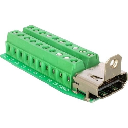 Delock Adapter HDMI Buchse > Terminalbl. 20pi