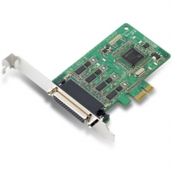 Moxa 4 port PCIe, w cable, RS232/422/485, LP