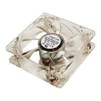 LogiLink Lüfter 80x80 Y- Strom Acryl  LED