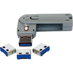 Exsys USB Schlüssel + Abdeckungsklappe blau