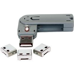 Exsys USB Schlüssel + Abdeckungsklappen weiß