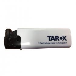 TAROX Feuerzeug weiß made im Ruhrgebiet