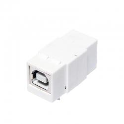 LogiLink Keystone MM Coupler USB2.0-B female>USB2.0-B female