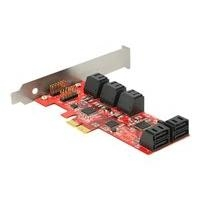Delock PCI Ex Card SATA 6Gb/s 10x intern Low