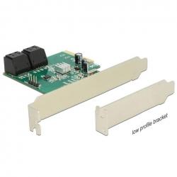 DeLock PCIe 4x SATA 6Gb/s 4x intern Hybrid low profile