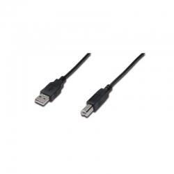 DIGITUS USB 2.0 Anschlusskabel, Typ A - B, St/St, 1m sw
