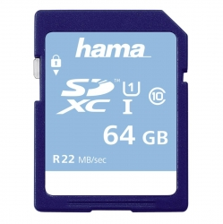HAMA SDXC 64GB Class 10 UHS-I 22 MB/s
