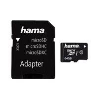 HAMA microSDXC 64GB Class 10 UHS-I + Adapter/Foto