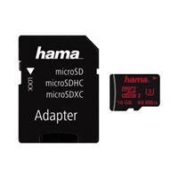 HAMA microSDHC 16GB UHS Speed Class 3 UHS-I 80MB/s + Adapter
