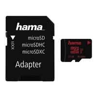 HAMA microSDHC 32GB UHS Speed Class 3 UHS-I 80MB/s + Adapter