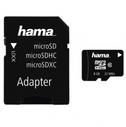 HAMA microSDHC 8GB Class 10 + Adapter/Mobile