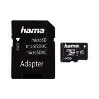 HAMA microSDXC 64GB Class 10 UHS-I + Adapter/Mobile