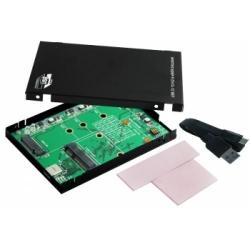 """Exsys USB 3.1 (Gen2) Type-C zu M.2 NFGG & mSATA SSD mit 2.5"""""""