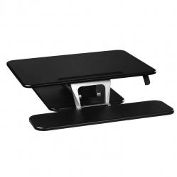 HAMA Aufsatz für Sitz-Steh-Arbeitsplatz,M(80x52) schwarz