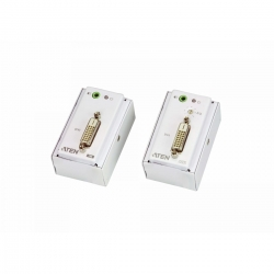 ATEN DVI/Audio Over Cat5 Extender with MK Wall Plate