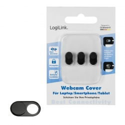 LogiLink Webcam privacy cover, 3 packs, Schwarz
