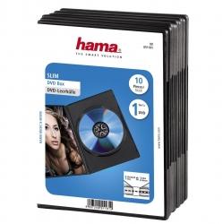 HAMA DVD-Leerhülle Slim, 10er-Pack, Schwarz