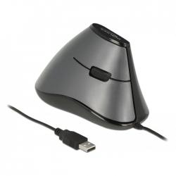 Delock Maus ergonomisch vertikal 5-Tasten wir