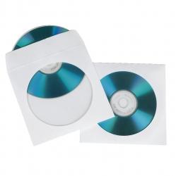 HAMA CD-/DVD-Papier-Schutzhüllen, Weiß, 100er-Pack