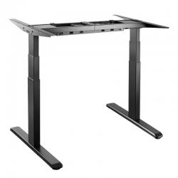 LogiLink Schreibtischgestell, schwarz, 3-stufig, Doppelmotor