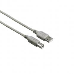 HAMA USB-2.0-Kabel, Grau 1,80m