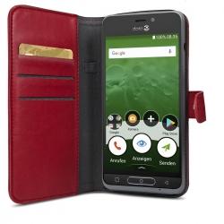 Doro Wallet Case rot für 8035
