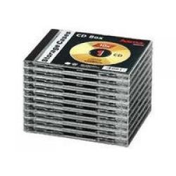 HAMA CD-Leerhülle Standard, 10er-Pack, Transparent/Schwarz