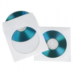 HAMA CD-/DVD-Papier-Schutzhüllen, Weiß, 50er-Pack