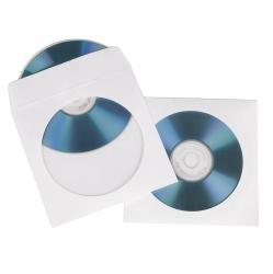HAMA CD-/DVD-Papierhüllen, 50er-Pack, Weiß