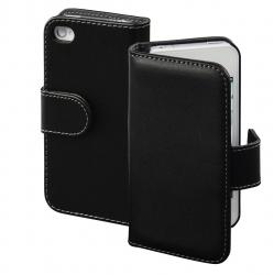 "HAMA Booklet ""Diary Case"" für Apple iPhone 4/4s, Schwarz"