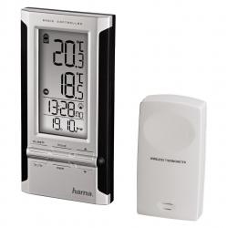 """HAMA Elektronische Wetterstation """"EWS-180"""", Schwarz/Silber"""