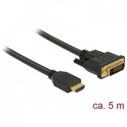 Delock HDMI zu DVI 24+1 Kabel bidirektional 5m