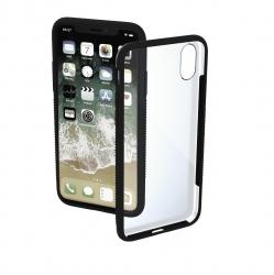 "HAMA Cover ""Frame"" für Apple iPhone XR, Transparent/Schwarz"