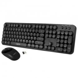 LogiLink 2,4 GHz Funk Tastatur & Maus Set, Retro
