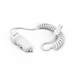 HAMA Kfz-Ladegerät, USB Type-C, 2,4 A, Weiß