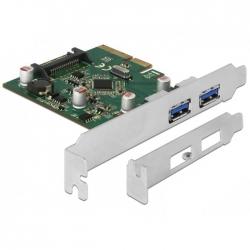 Delock PCI Express x4 Karte zu 2 x extern USB 3.1 Gen 2 Typ-