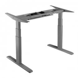 LogiLink Elektrisch verstellbares Schreibtischgestell grau