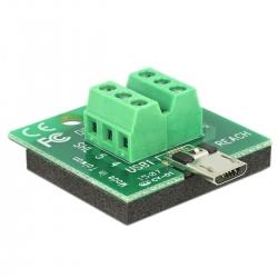 Delock Adapter Terminalblock > Micro USB Stecker