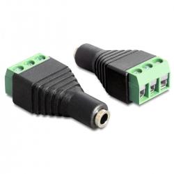 Delock Adapter Terminalblock > Klinke 3,5mm Buchse 3 Pin