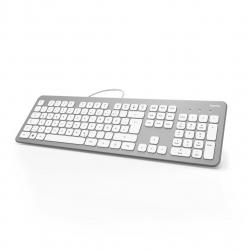 """HAMA Tastatur """"KC-700"""", Silber/Weiß"""