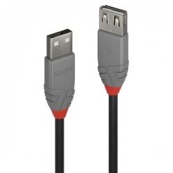 Lindy 0.2m USB 2.0 Typ A Verlängerungskabel, Anthra Line