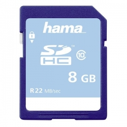 HAMA SDHC 8GB Class 10 22MB/s, Schmale Verpackung