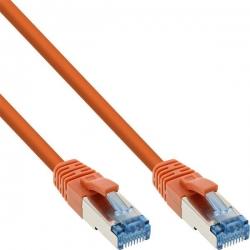 InLine Patchkabel, S/FTP (PiMf), Cat.6A, 500MHz, orange 1m