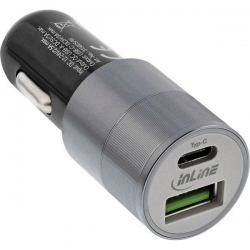 InLine USB KFZ Stromadapter Quick Charge 3.0, 12/24VDC zu 5V