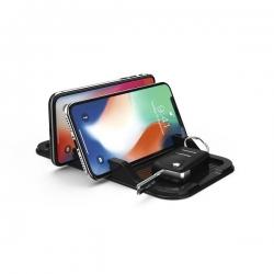 HAMA Anti-Rutsch-Pad für Smartphones, Schwarz