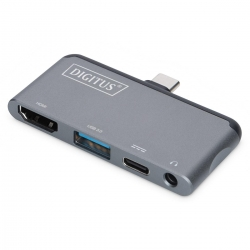 DIGITUS USB-CT Mobile Docking Station, 4-Port