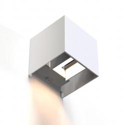 HAMA WiFi-Wandleuchte, quadratisch, 10 cm, IP44 für innen un