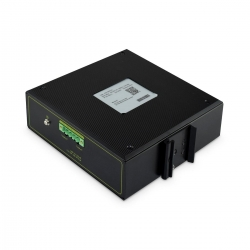 DIGITUS Industrieller 4-Port Gigabit PoE+ Switch mit 2 x SFP