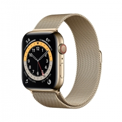 Apple Watch S6 Edelstahl 44mm Cellular Gold Mi
